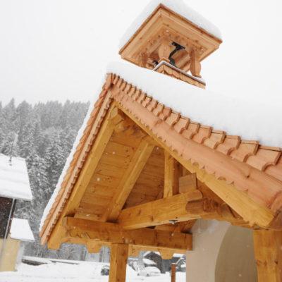 Holzschindeln auf Kapelle